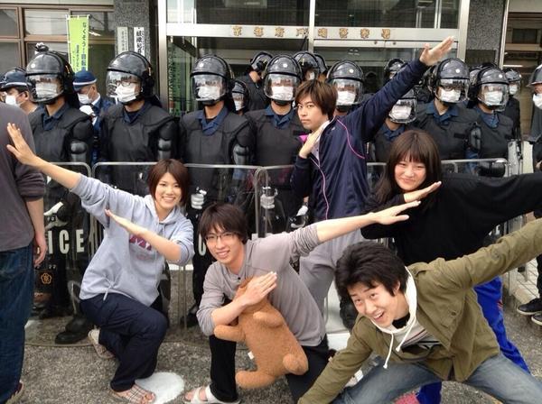 riot police raid kyoto university kumano dormitory campus student protest teddy bears